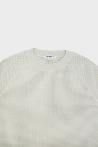 lady white co. Cropped Raglan Thermal - Bone