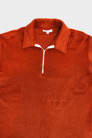 lady white co. Furry 1/4 Zip shirt - Texas Red