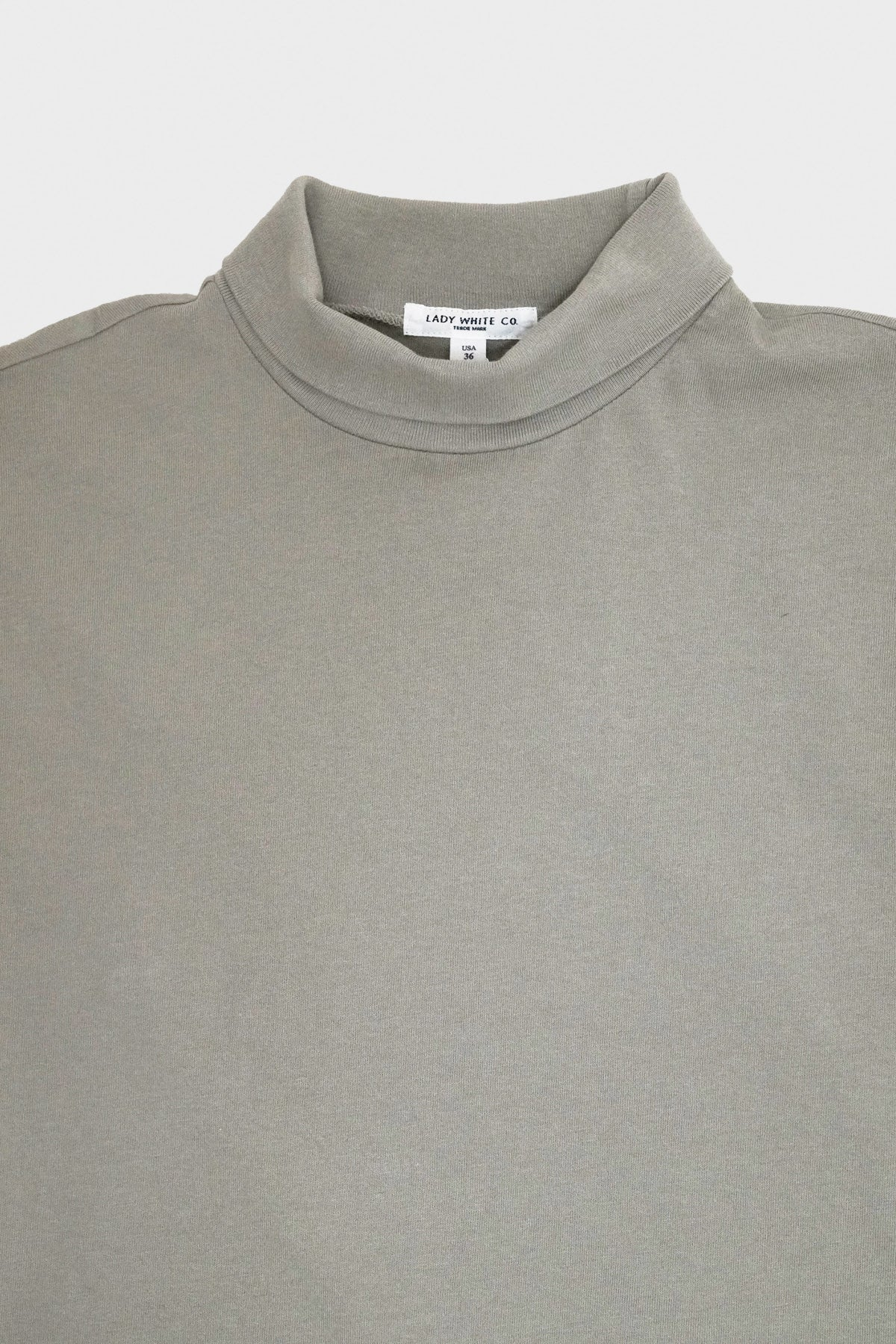 Lady White Co. - Jersey Turtleneck - Taupe Fog - Canoe Club