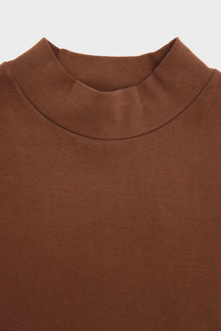 lady white co. Mock Neck - Mahogany