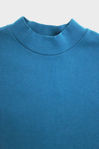 lady white co. Mock Neck - Neptune Blue