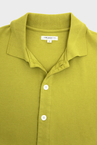 lady white co. Placket Polo - Lemongrass