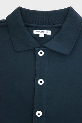 lady white co Placket Polo - Night Grey