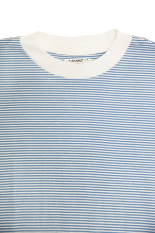 lady white co Wayde Stripe T-Shirt - Light Blue