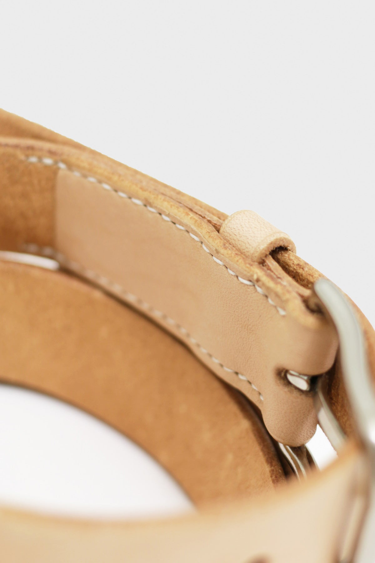 Laperruque - Belt - Natural Leather and Nickel Buckle - Canoe Club