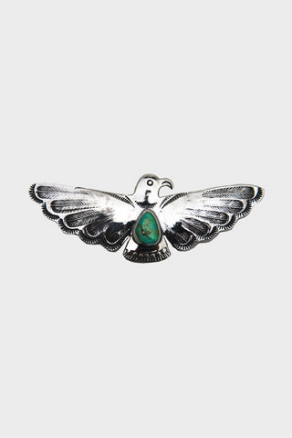 Thunderbird Feather Pattern Turquoise Pin