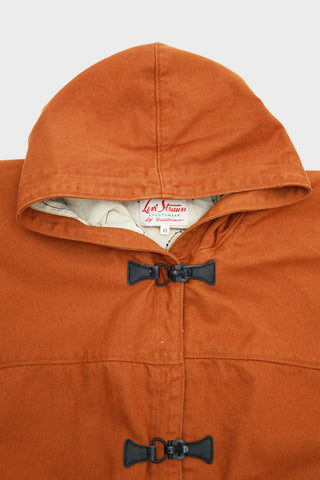 levi's vintage clothing 1940's parka in burnt orange