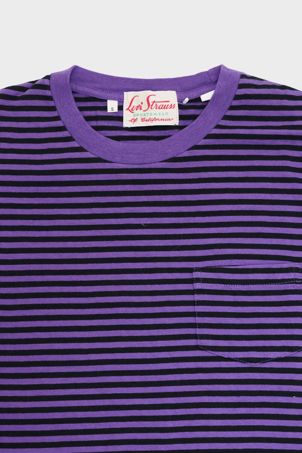 Levi's Vintage Clothing - 1950's Sportswear Tee - Purple Stripe Tonal - Canoe Club