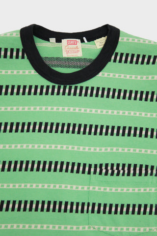 levis vintage clothing lvc 1960's Casuals Stripe - Mint Stripe Jacquard