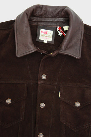 levis vintage clothing lvc 1960's Suede Trucker Jacket - Chocolate Brownie