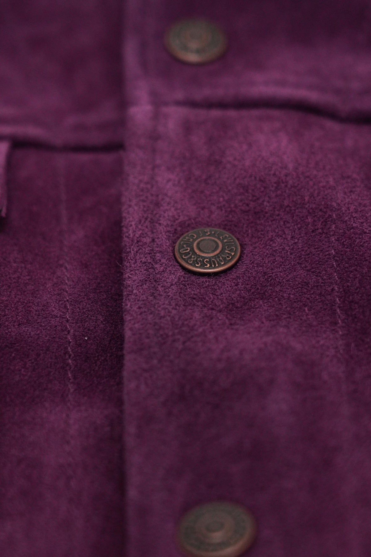 Levi's Vintage Clothing - 1960's Suede Trucker - Purple Passion - Canoe Club