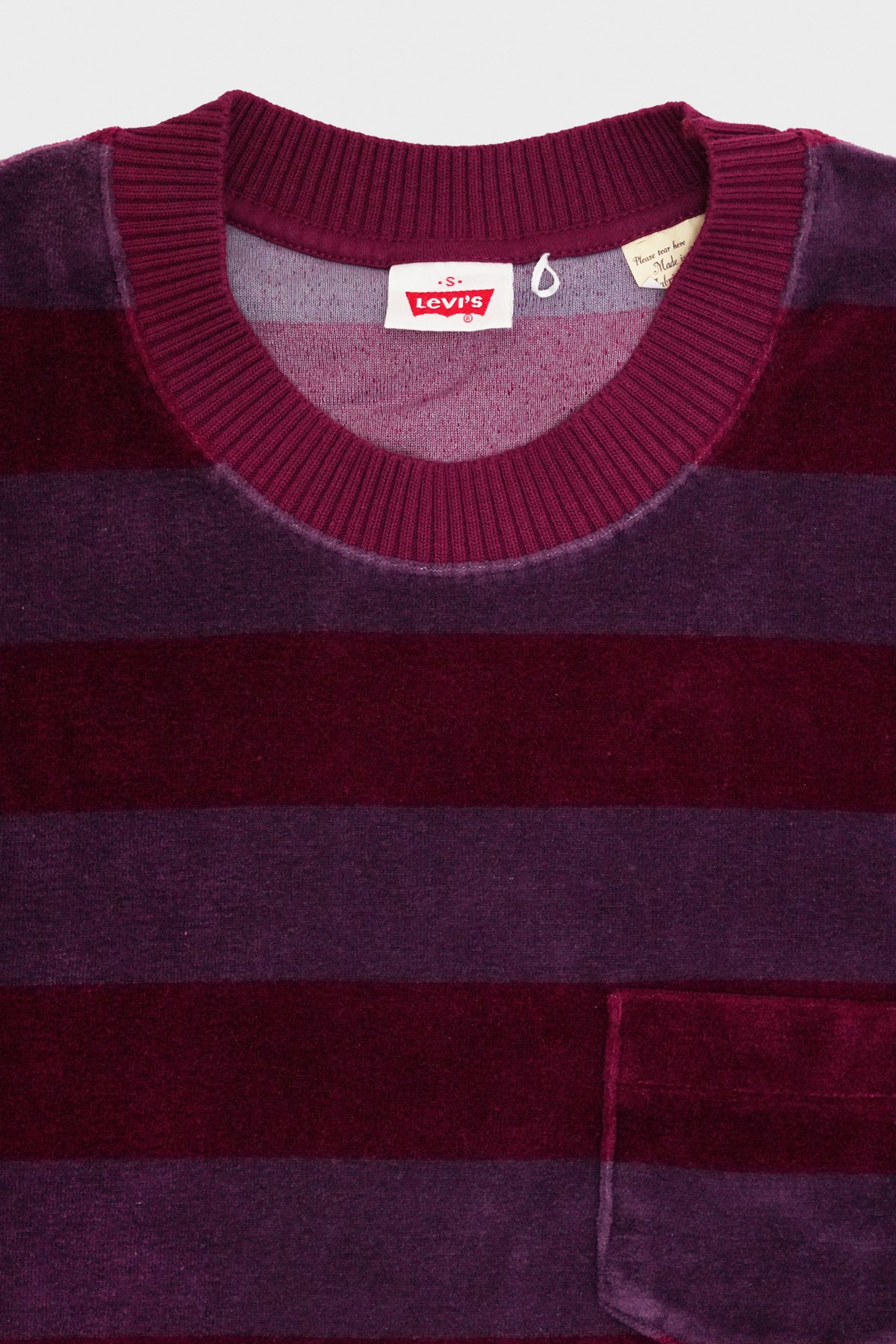 Levi's Vintage Clothing - 1960s Velour Crew - Tonal Purple Stripe - Canoe Club