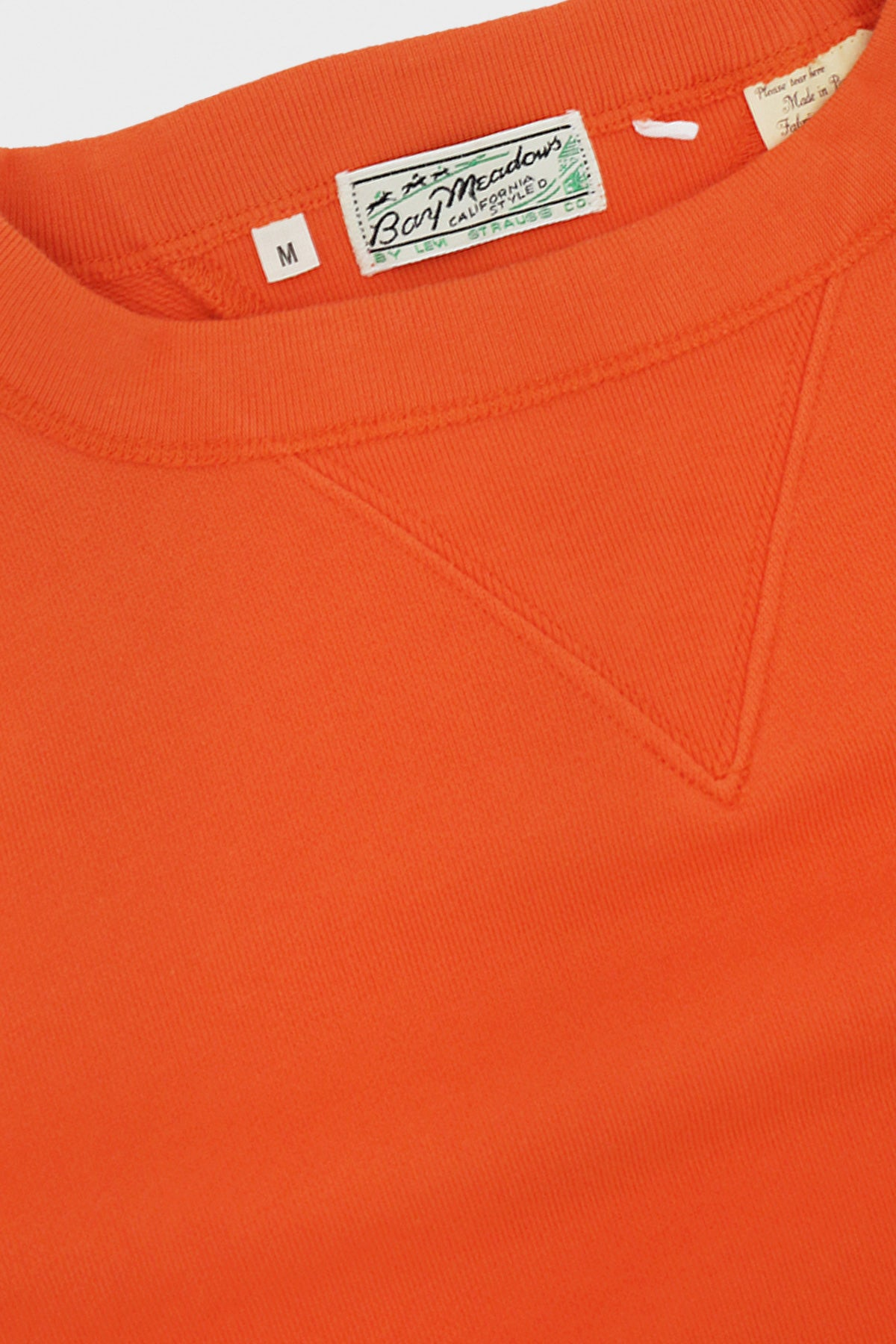 Levi's Vintage Clothing - Bay Meadows Sweatshirt - Acid Orange - Canoe Club