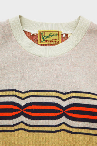 levis vintage clothing lvc Knit Surf Tee - Robot Eye Intarsia