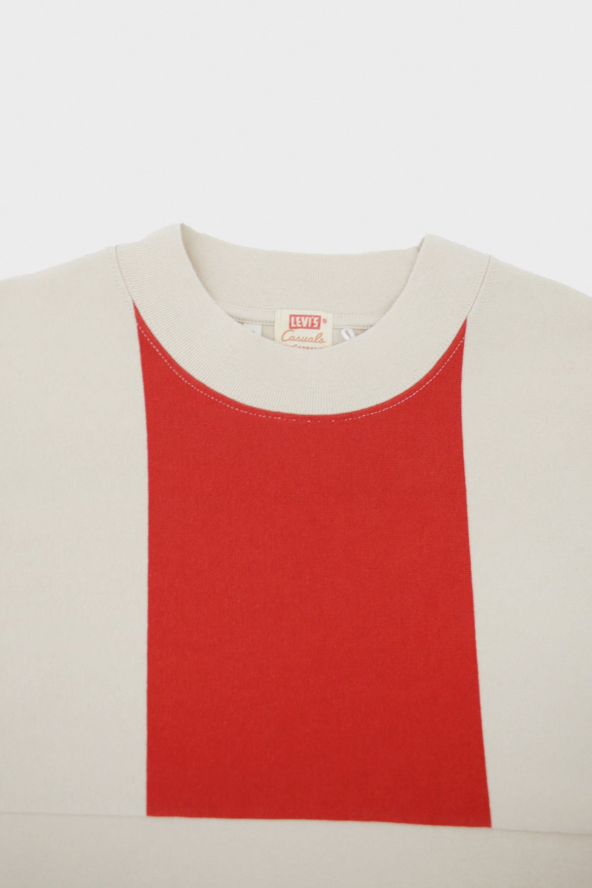 Levi's Vintage Clothing - Split Hem Tee - Red Border White Stripe - Canoe Club