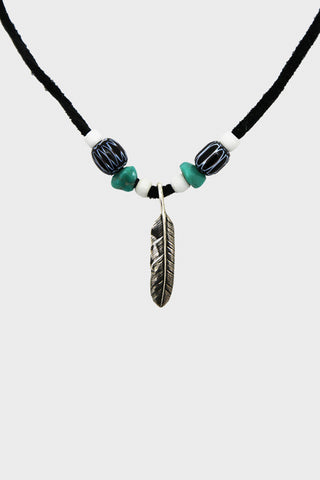 Feather Necklace - Black