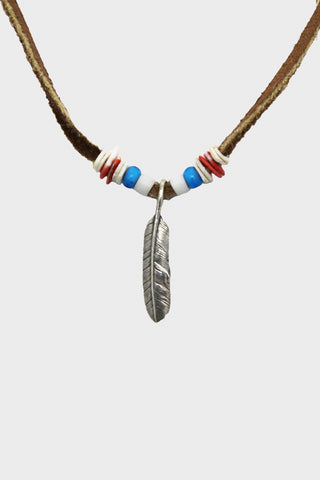 Feather Necklace - Blue
