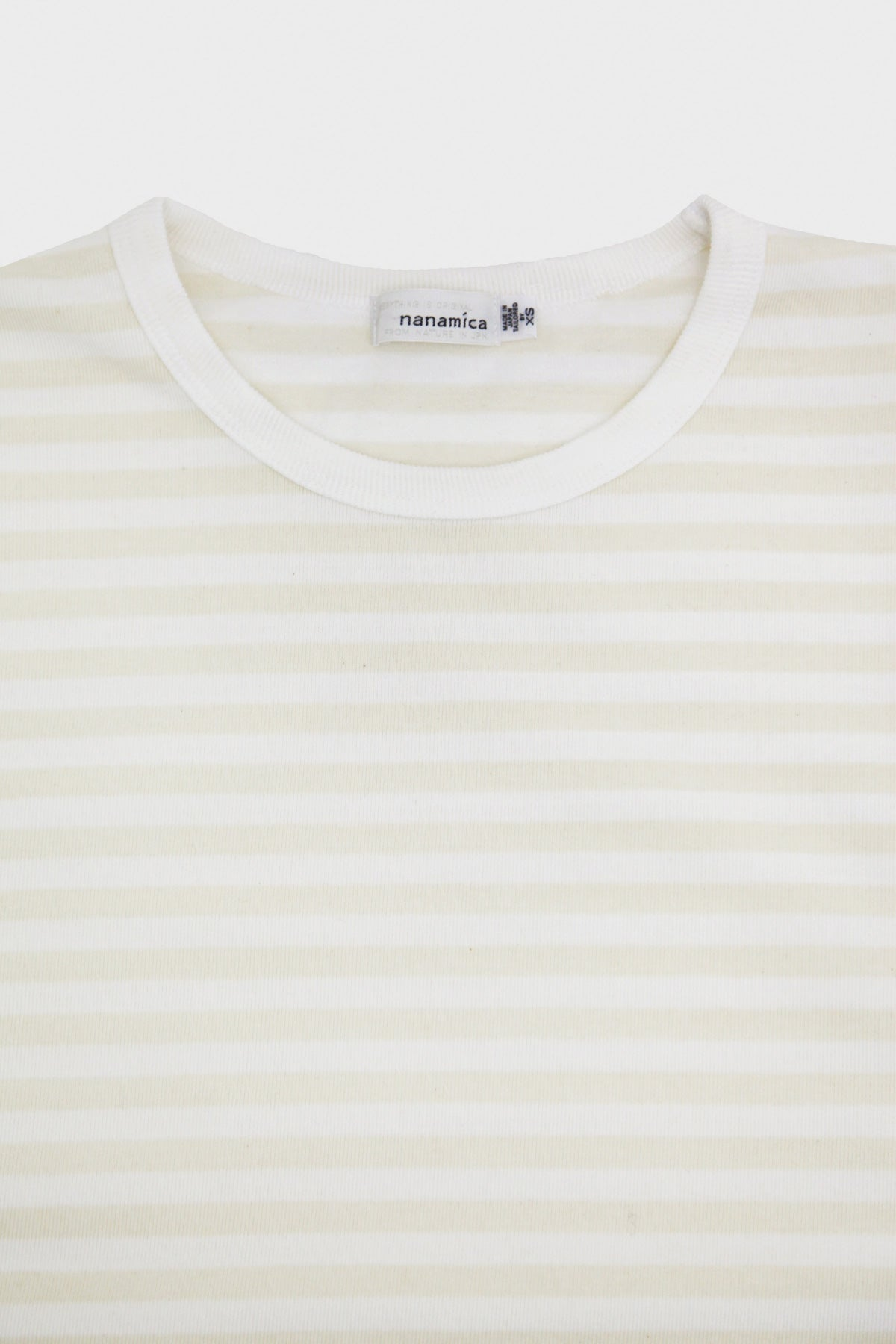 nanamica - COOLMAX  Striped Jersey Long Sleeve Tee - Ecru/White - Canoe Club
