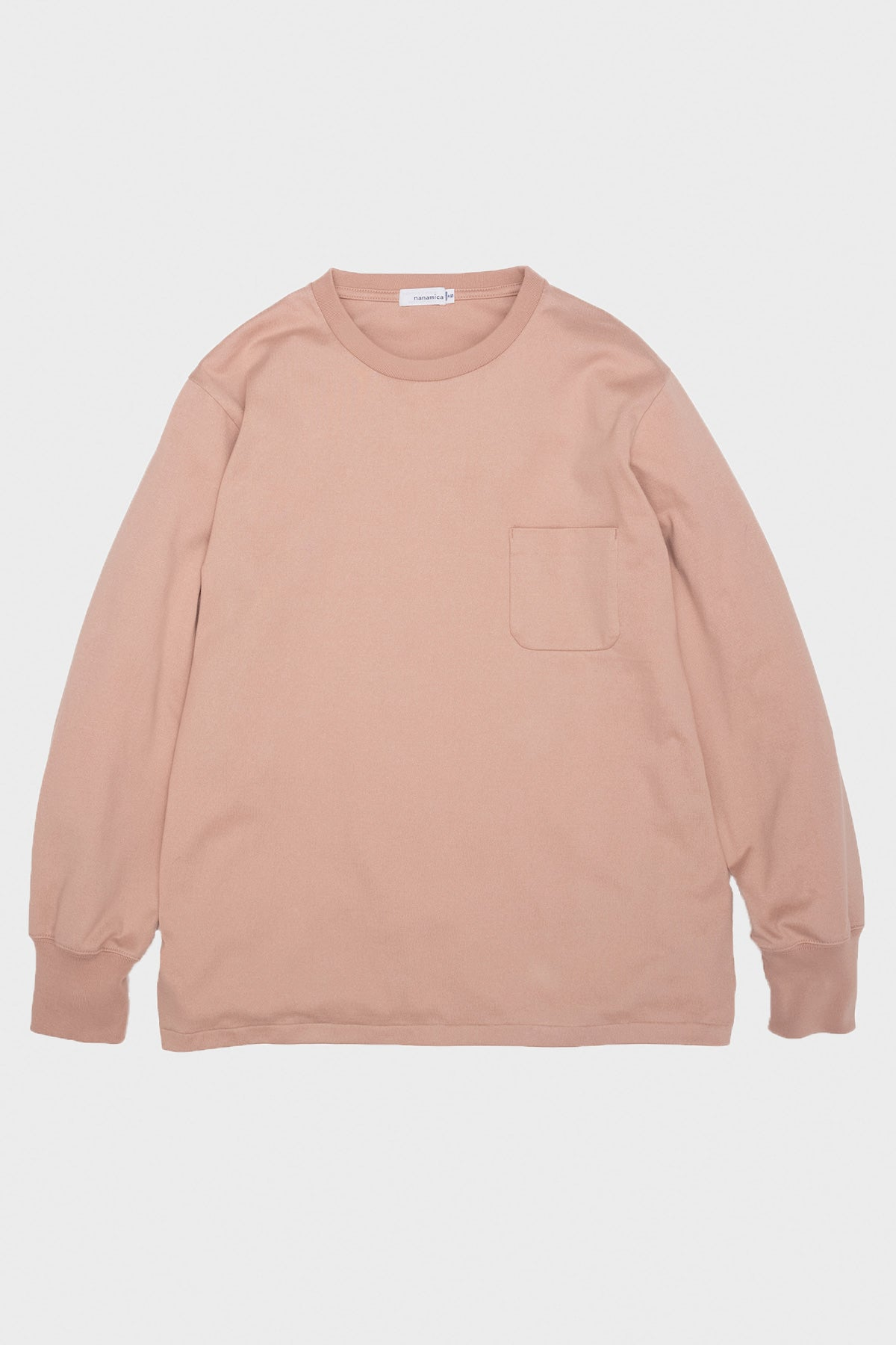 nanamica - Long Sleeve Pocket Tee - Light Pink - Canoe Club