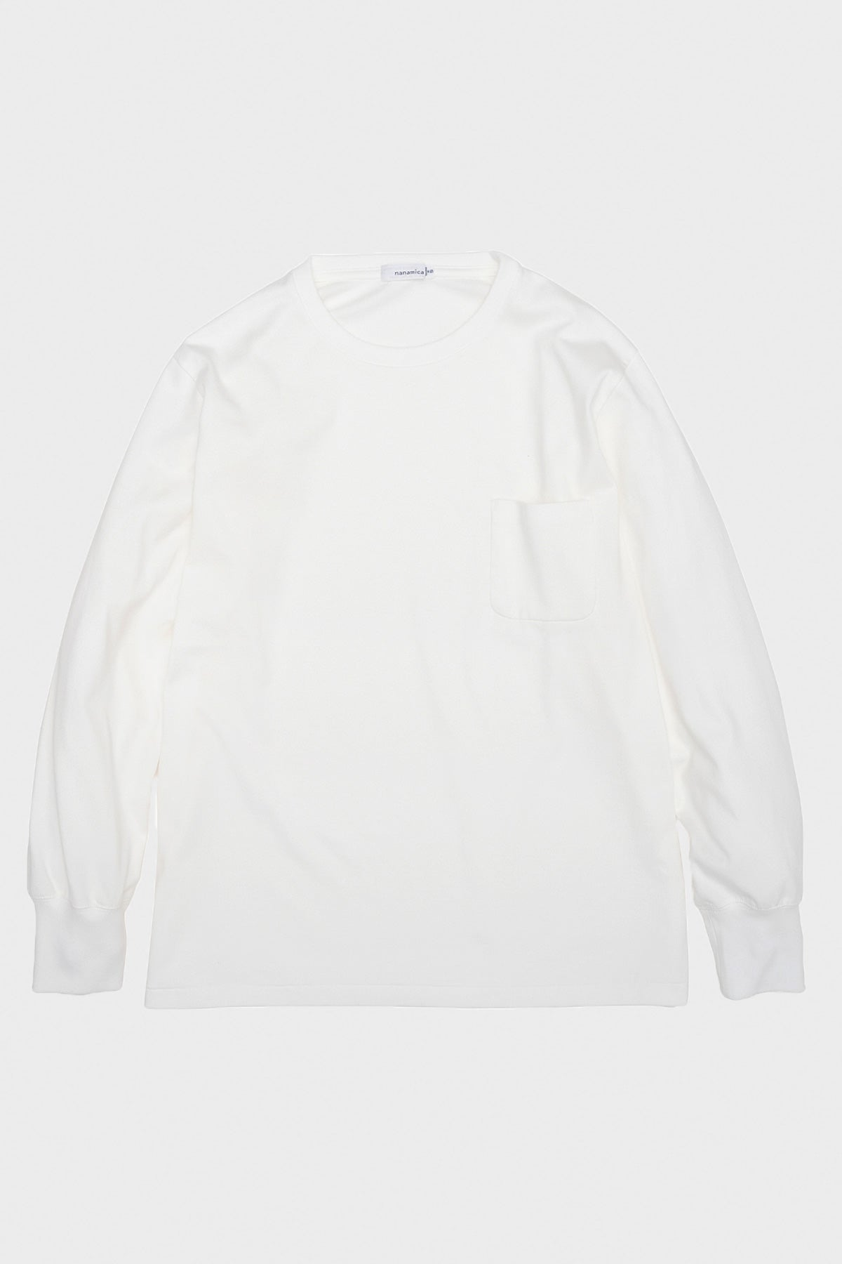 nanamica - Long Sleeve Pocket Tee - Off White - Canoe Club