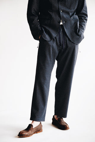 engineered garments Leisure Pant - Navy Brown Diamond Jersey Knit