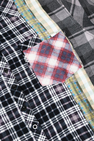 needles clothing japan 7 Cuts Flannel Shirt - Assorted #1 - Small