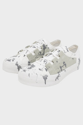 needles clothing japan Asymmetric Ghillie Sneaker - White