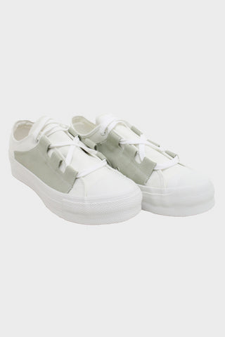 needles clothing japan Asymmetric Ghillie Sneaker - White II