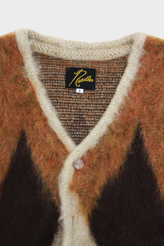 Diamond Mohair Cardigan - Beige