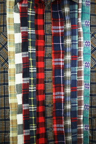 needles clothing japan Ribbon Flannel Shirt - Assorted 14 - X Large