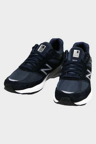 new balance M990 V5 shoes - Navy/Silver