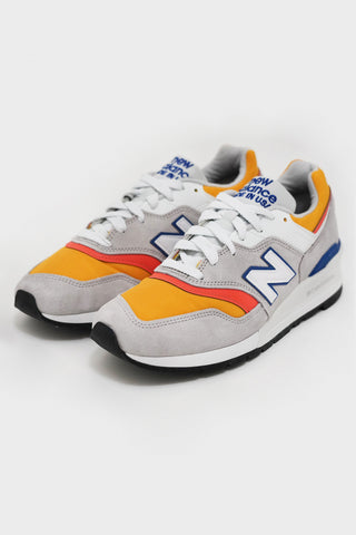 new balance M997 shoes - Grey/Orange