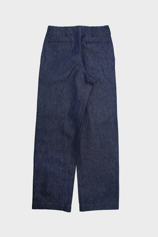 Old Hands clothing japan C&L Trousers - Indigo Cotton/Linen