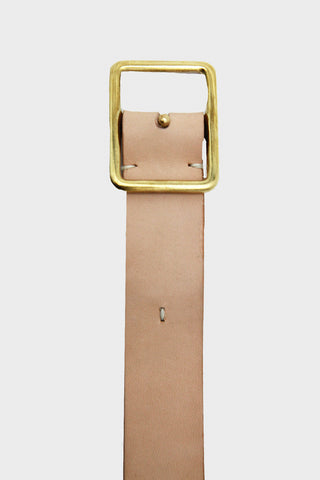Old Hands clothing japan Dot Belt - Natural Leather