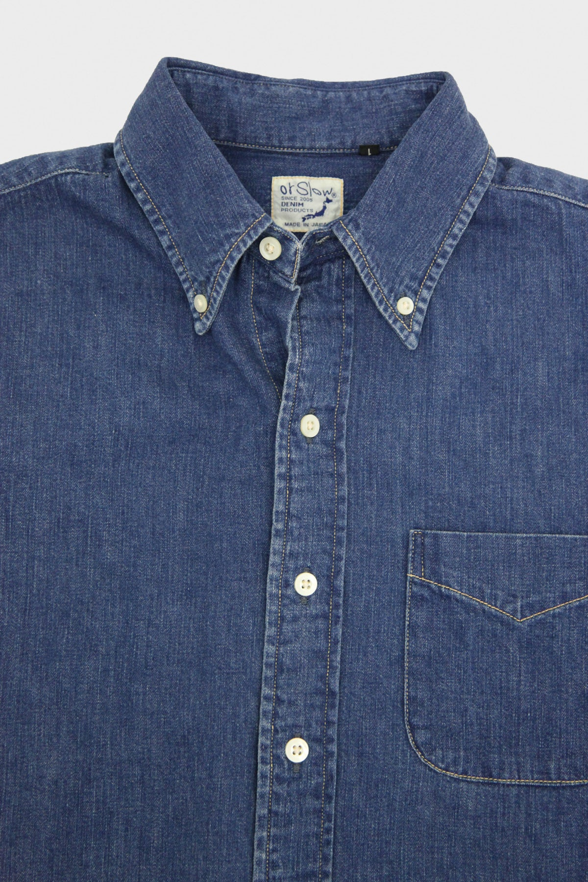 orSlow - Button Down Shirt - Denim Used - Canoe Club