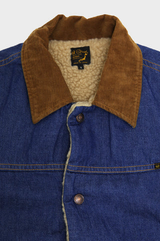 orslow Denim Sherpa Lined Jacket - One Wash