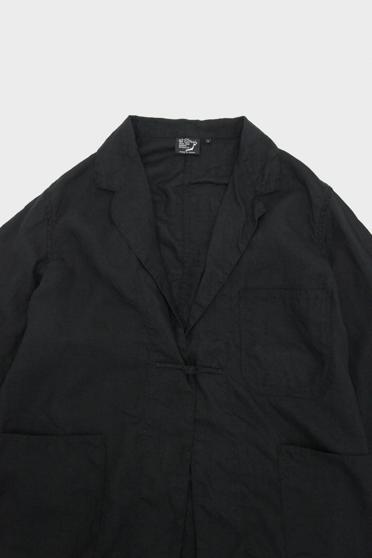 orSlow - Frog Button Linen Jacket - Indigo - Canoe Club