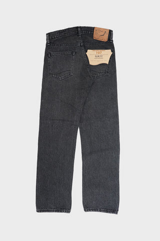 orslow Ivy Fit Denim 107 - Black Denim Stone