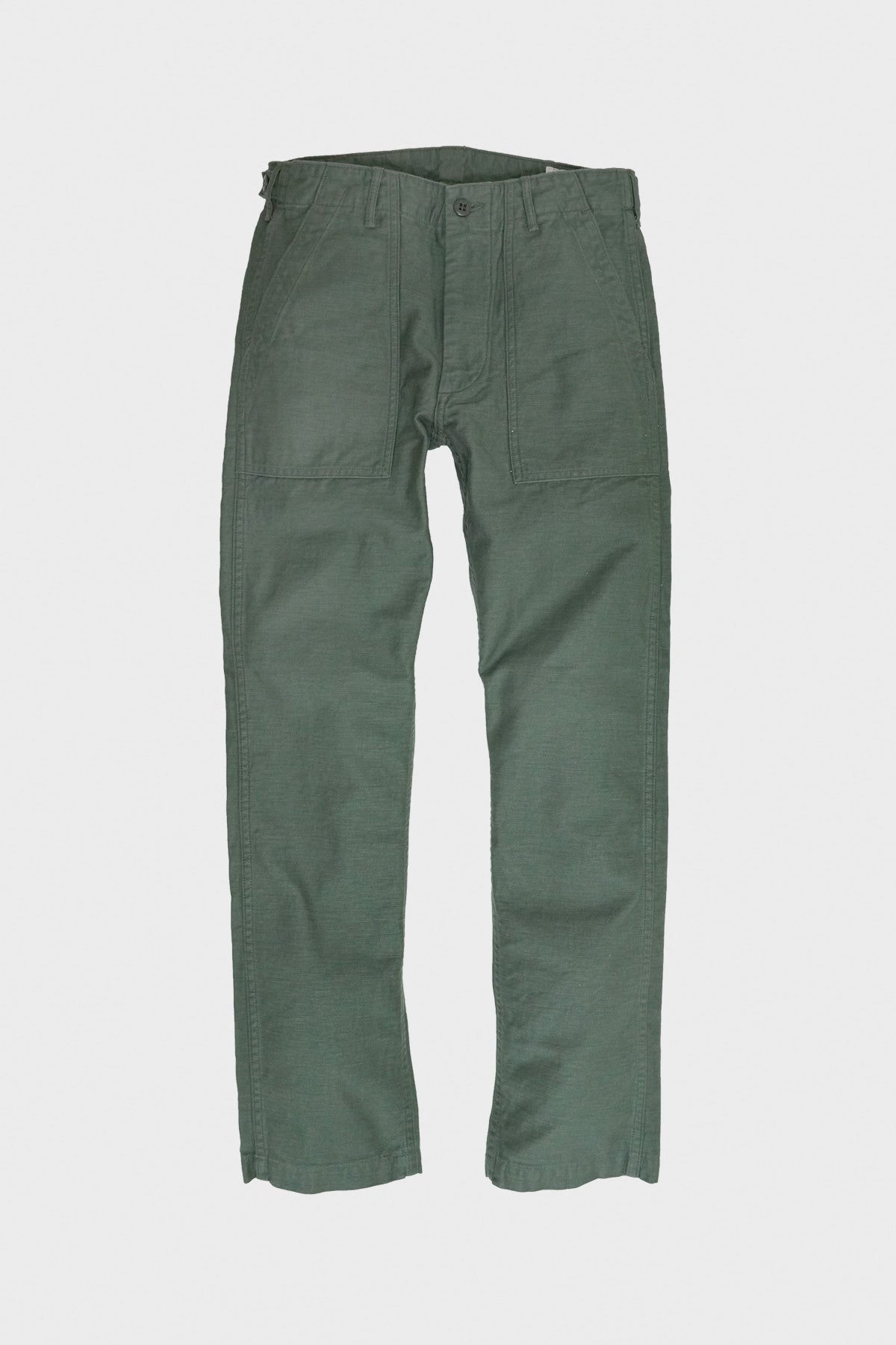 orSlow - Slim Fit Fatigue Pants - Olive Reverse Sateen - Canoe Club