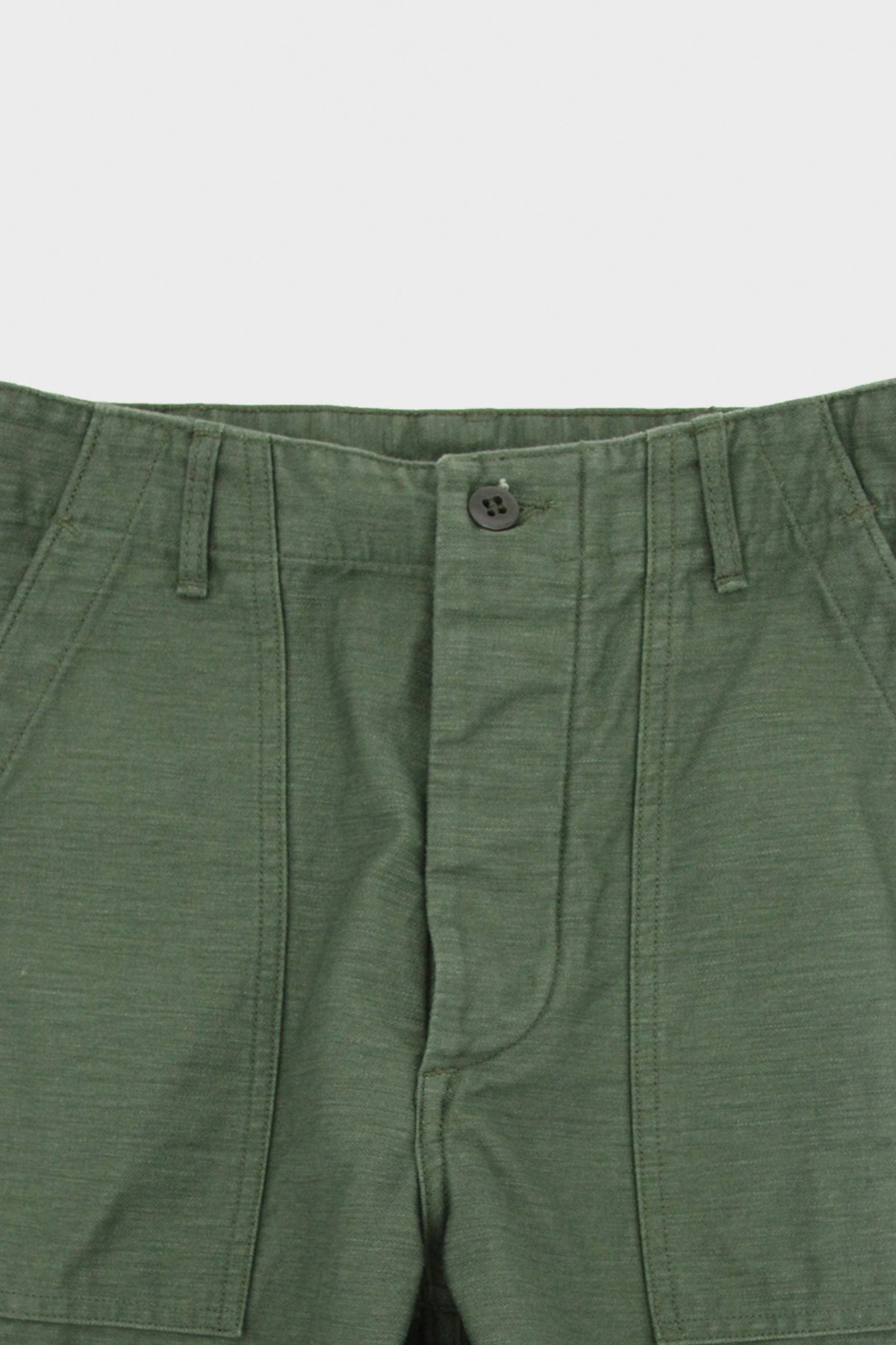 orSlow - Standard Fit Fatigue Pants - Olive Reverse Sateen - Canoe Club
