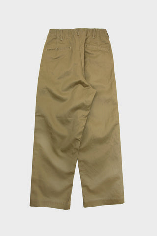 Vintage Fit Army Trouser - Khaki