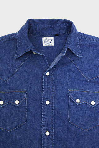 Vintage Fit Western Shirt - Used Denim