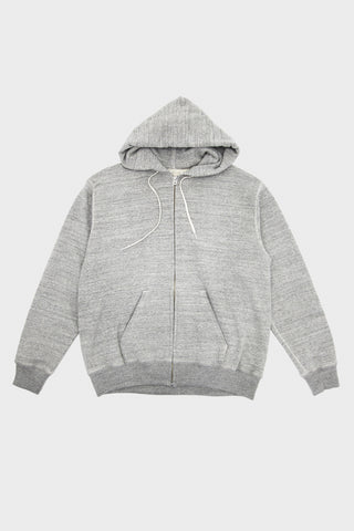 Zip-Up Hooded Sweatshirt - Heather Charcoal Grey