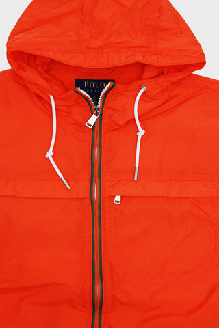 Anorak Jacket - Plain Taffeta Nylon - Sailing Orange