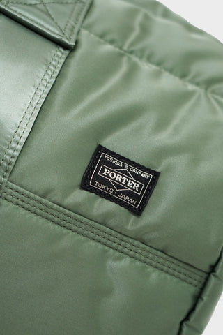 porter yoshida and co 2 Way Boston Bag - Sage Green