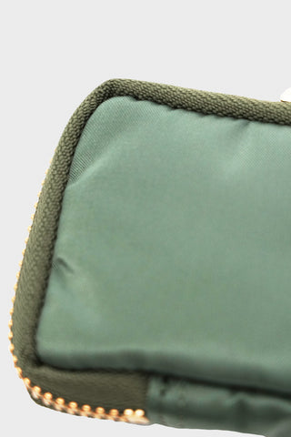porter yoshida and co Nylon Key Case - Sage Green