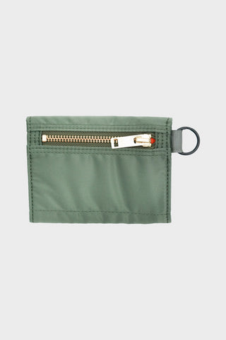 porter yoshida and co Nylon Wallet - Sage Green