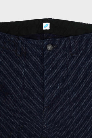 pure blue japan Selvedge Sashiko Denim Utility Shorts - Double Indigo