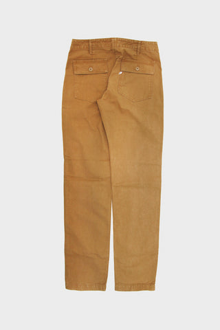 pure blue japan Sulfur Dyed Whipcord Military Pants - Camel