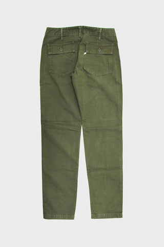 pure blue japan Sulfur Dyed Whipcord Military Pants - Olive
